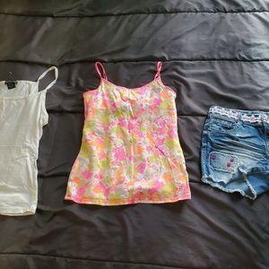 girl size 14 designed denim shorts & 2 cami